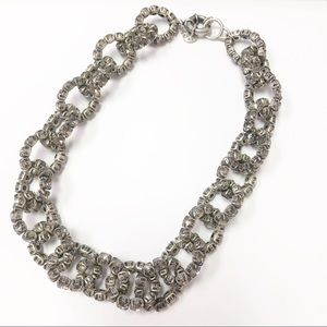 Smoky Rhinestone chain link necklace by J Crew